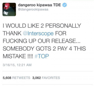 Top Dawg pissed