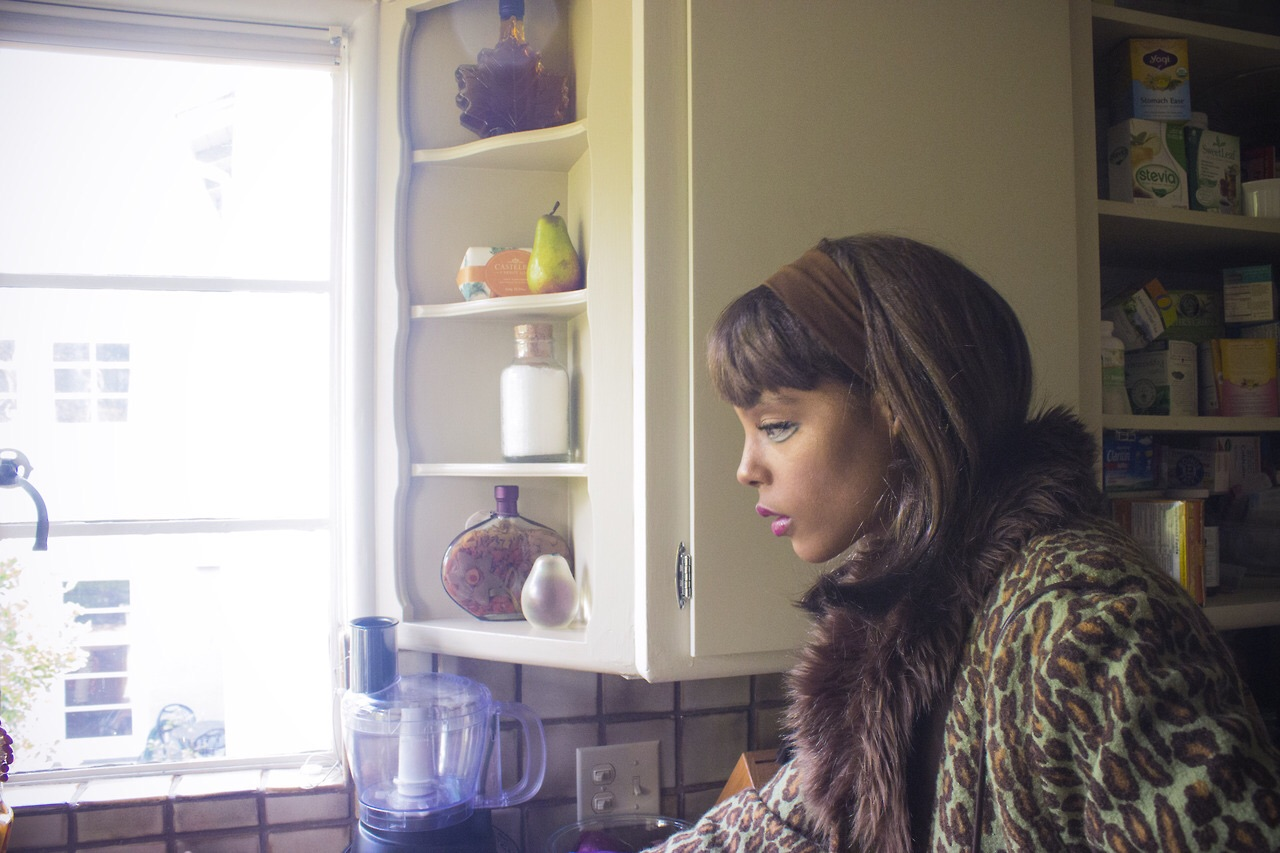 "Visual artist and photographer Haleigh Nickerson poses as ""A Doll In A Dollhouse"""