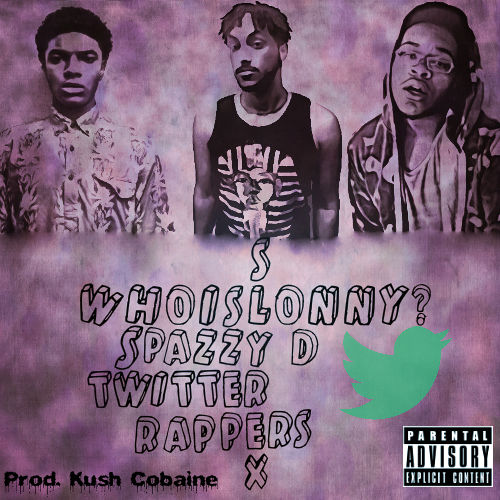 WhoisLonny?, SlyRex, and Spazzy D on the cover of their track