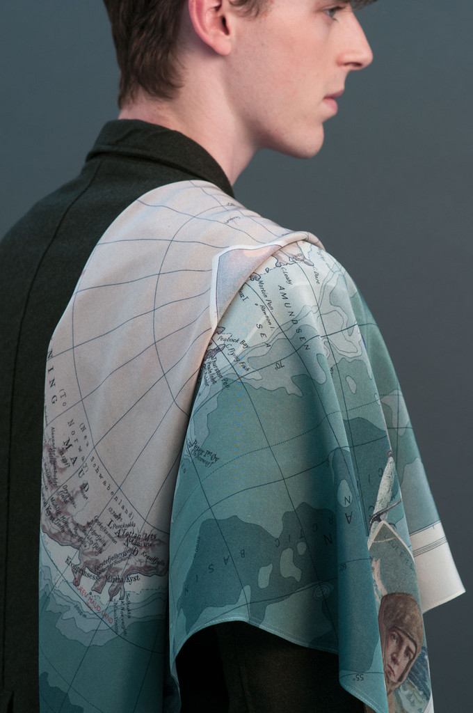 The Shackleton Silk Crepe Scarf by Travail en Famille