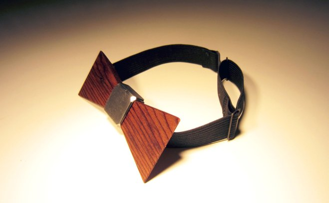 Dark Brown wooden bow tie, $40.00 at MNMBows.com