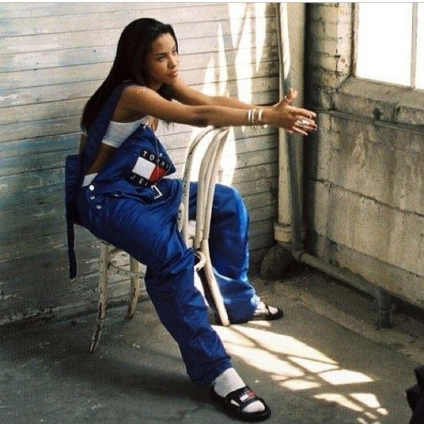 tug4od-l-610x610-pants-jean+overalls-tommy+hilfiger-aaliyah-dope+wishlist-slide+shoes-jumpsuit-slides-overalls