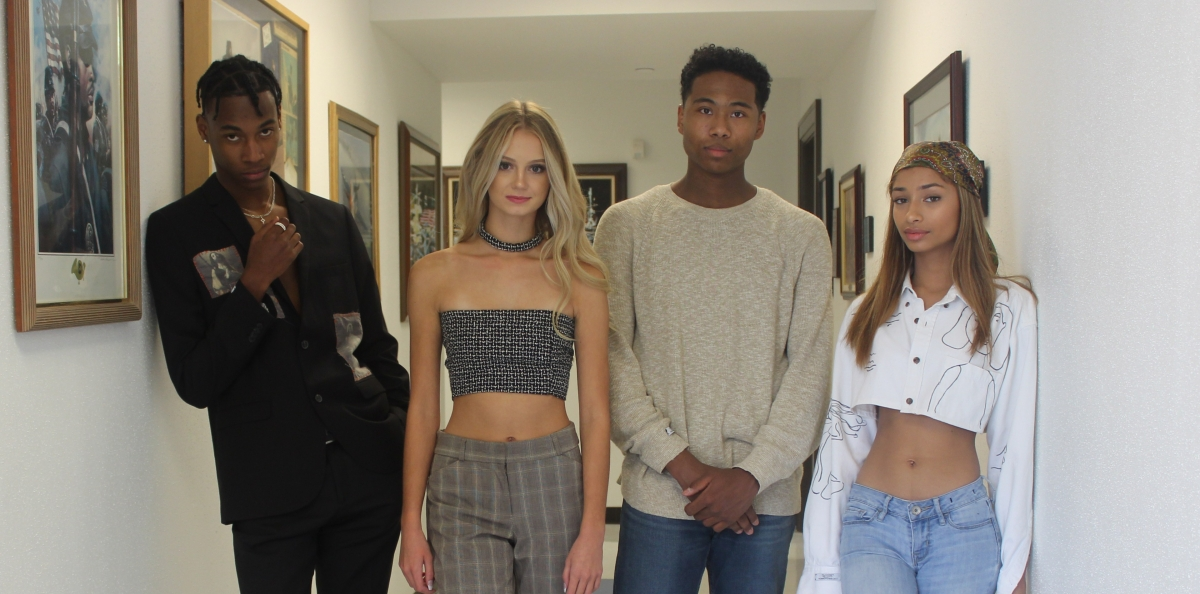 """Backstage with Palacose's Ezla Lewis discussing his """"Felicity"""" collection"""